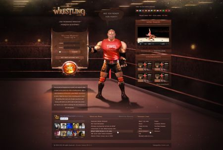 Charakter aus dem Browsergame The Wrestling Game