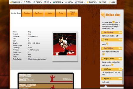 Wrestler Daten bei The Wrestling Game