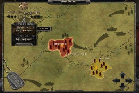 Karte bei Wargame 1942