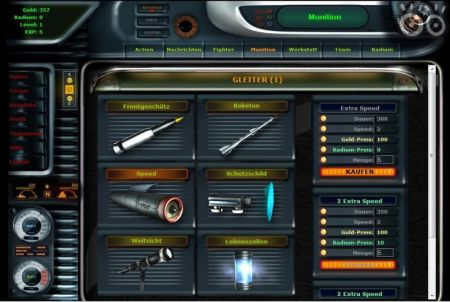 verschiedene Waffen bei Digital Fighter