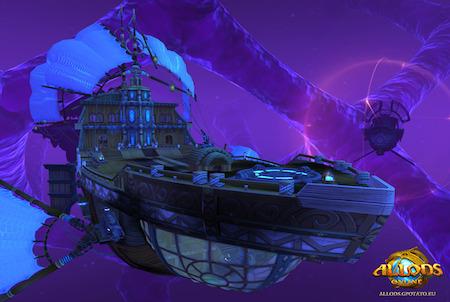 Schiff aus dem Browsergame Allods Online
