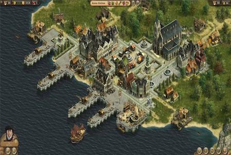 Hafen bei Anno Online