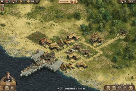 Siedlung aus dem Browsergame Anno Online