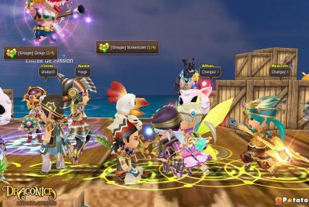 viele Spielfiguren bei Dragonica