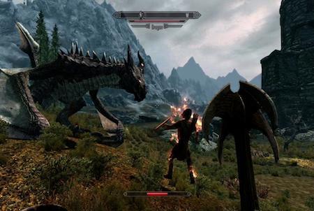 Kampfszene aus dem Browsergame Drachenkampf