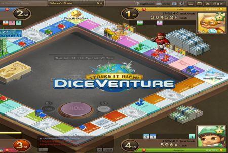 Spielfeld bei Dice Venture