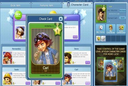 Charakterkarte bei Dice Venture