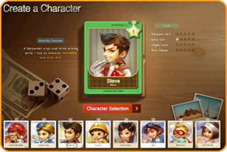 Charakterkarte aus dem Spiel