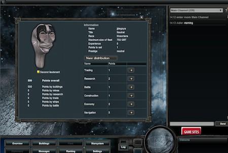 Charakter aus dem Browsergme Empire Universe 2