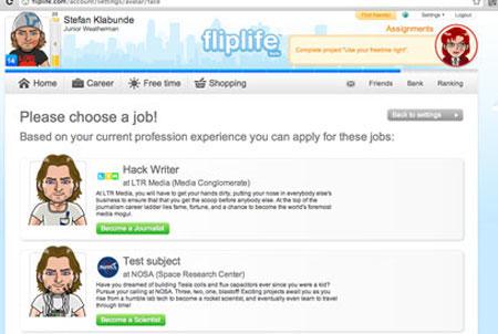 Fliplife Berufswahl