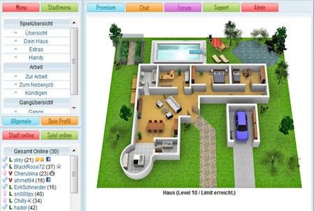 Haus aus dem Browsergame Citys Life