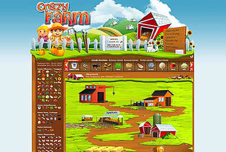 Bauernhof aus dem Browsergame CrazyFarm