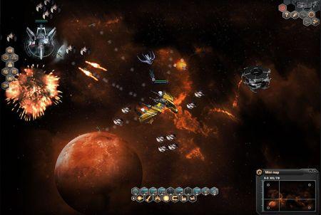intergalaktische Kampfszene bei Dark Orbit