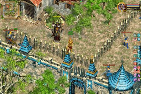 Dorf aus dem Browsergame Fragoria