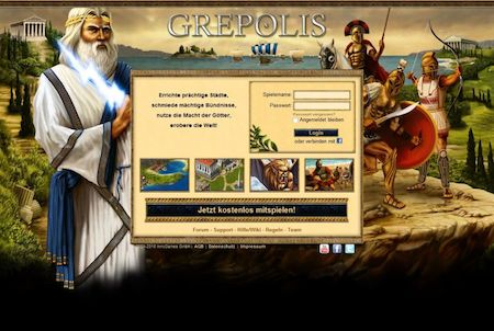 Grepolis Anmeldung