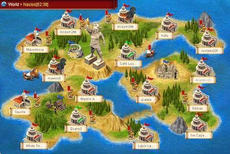Insel aus dem Spiel Ikariam