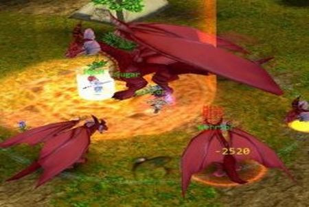 Drachen aus dem Browsergame Godswar Online