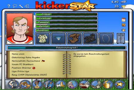 Kickerstar Spielerentwicklung