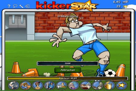 Kickerstar Trainingsfortschritt
