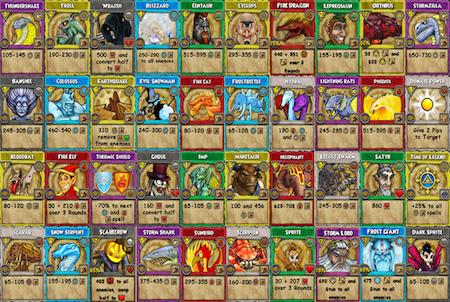 Wizard101 Spielkarten