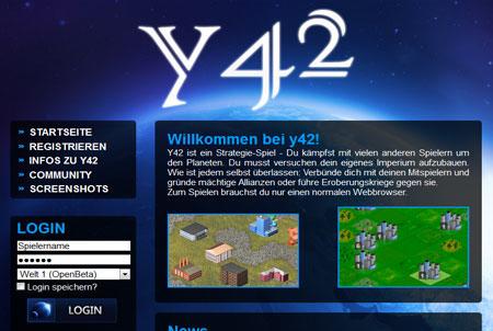 erste Schritte bei Browsergame Y42