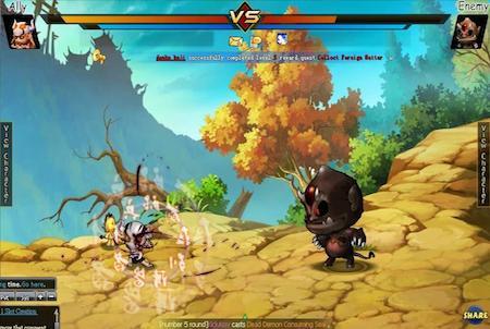 Pockie Ninja Kampfszene