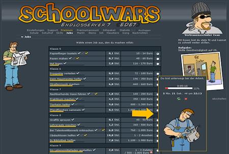 Schoolwars Arbeit