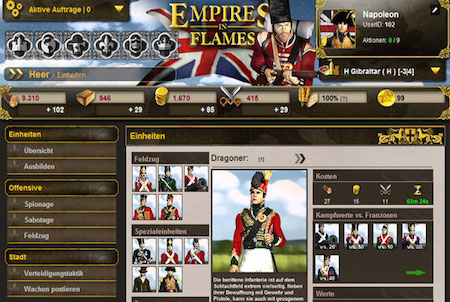 Einheiten bei Empires in Flames