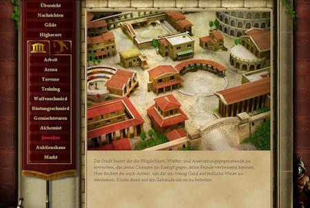 Siedlung im Spiel Gladiators
