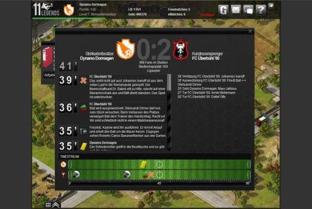 Informationen nach einem Spiel