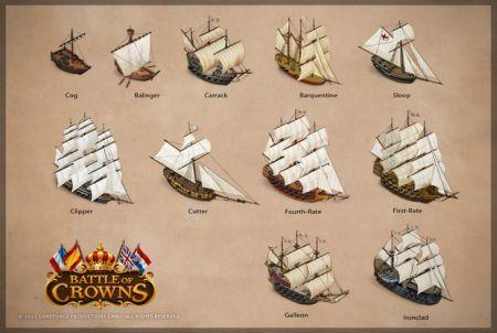 es stehen verschiedene Schiffe zur Auswahl