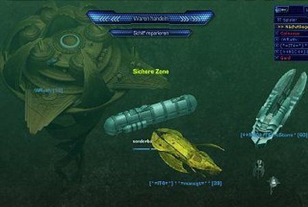 verschiedene Schiffe beim Browsergame Deepolis