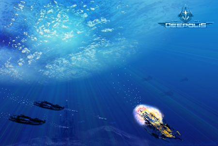 Unterwasser-Setting des Brwosergames Deepolis