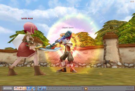 eine Kampfszene aus dem Browsergame Flyff