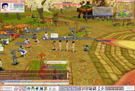 Stadt aus dem Browsergame Flyff