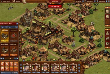 so sieht eine Siedlung bei Forge of Empires aus