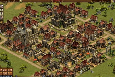 Luftansicht im Browsergame Forge of Empires