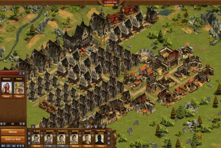 Spielansicht im Browsergame Forge of Empires