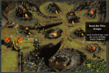 beeindruckendes Setting des Browsergames Draco Game