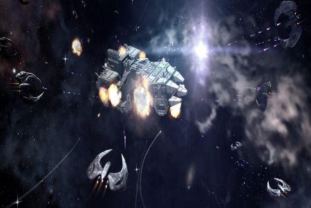 intergalaktisches Schlachtschiff