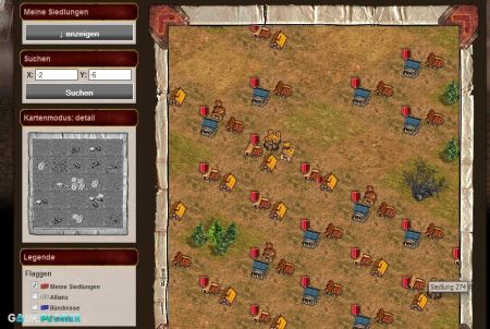 Karte bei Gladius Bellum