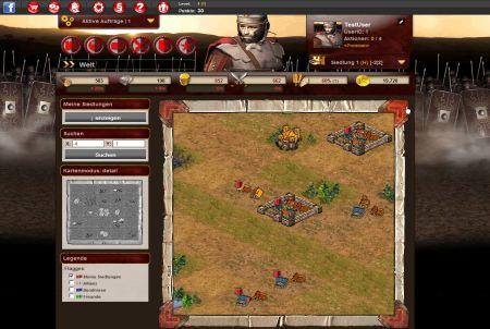 Spielstart bei Gladius Bellum