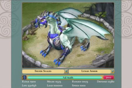 Drache aus dem Browsergame Dragons of Atlantis