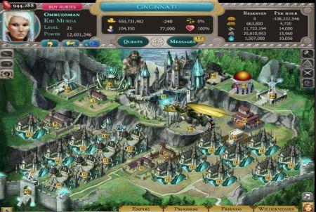 eine Stadt aus dem Browsergame Dragons of Atlantis