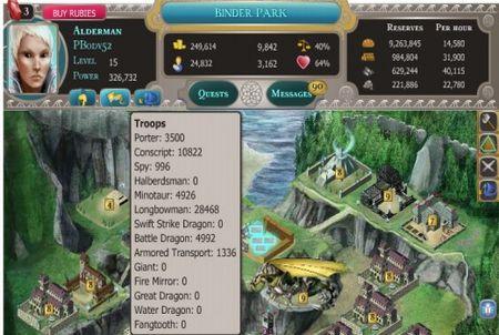 verschiedene Truppen bei Dragons of Atlantis