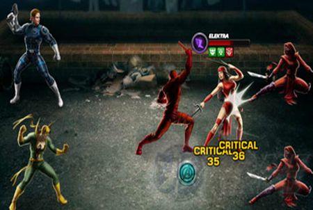 Kampfszene bei Marvel: Avengers Alliances