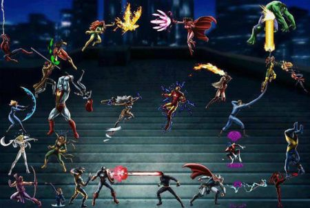viele Helden stehen zur Wahl bei Marvel: Avengers Alliances