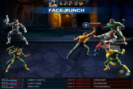 im Kampf geht es bei Marvel: Avengers Alliances zur Sache