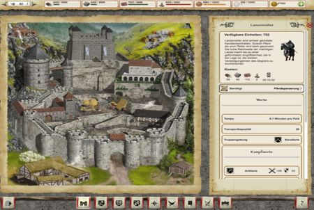 Burg aus dem Browsergame Lords & Knights