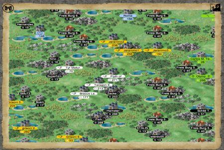 Landkarte bei Lords & Knights